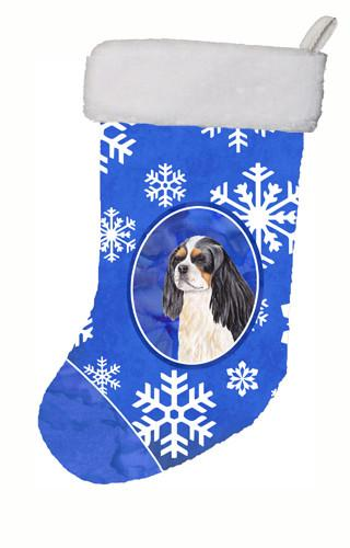Cavalier Spaniel Winter Snowflakes Christmas Stocking SC9391 by Caroline's Treasures