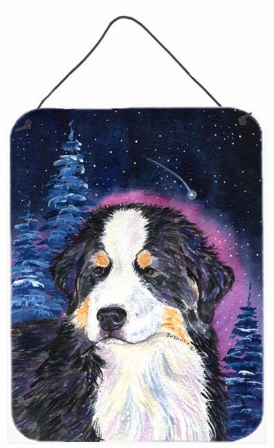 Starry Night Bernese Mountain Dog Aluminium Metal Wall or Door Hanging Prints by Caroline's Treasures