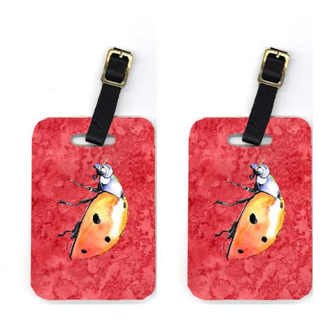 Buy this Pair of Lady Bug on Red Luggage Tags