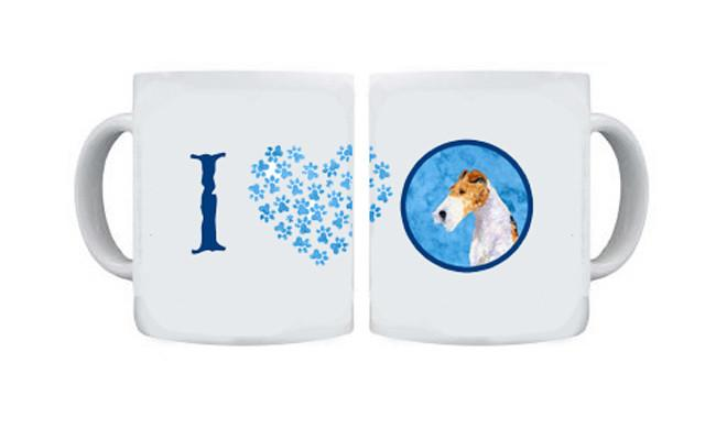 Fox Terrier  Dishwasher Safe Microwavable Ceramic Coffee Mug 15 ounce SS4754 by Caroline's Treasures