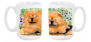 Buy this Chow Chow Dishwasher Safe Microwavable Ceramic Coffee Mug 15 ounce SS8123CM15