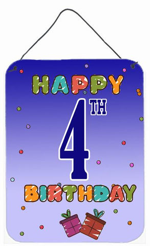 Buy this Happy 4th Birthday Wall or Door Hanging Prints CJ1095DS1216