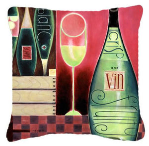 Buy this Wine Collection Blanc by Cathy Brear Canvas Decorative Pillow BCBR0068PW1414