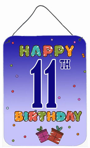 Buy this Happy 11th Birthday Wall or Door Hanging Prints CJ1102DS1216