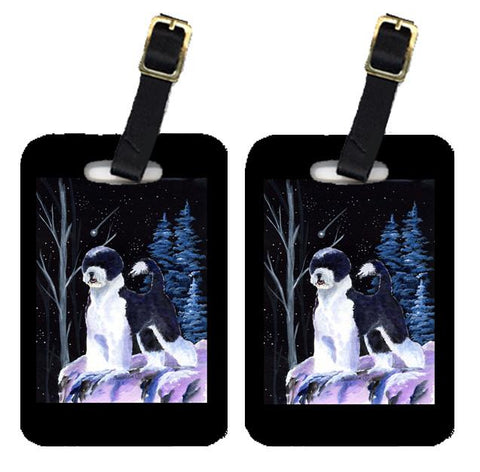 Buy this Starry Night Portuguese Water Dog Luggage Tags Pair of 2