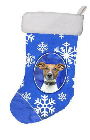 Buy this Winter Snowflakes Holiday Jack Russell Terrier Christmas Stocking KJ1176CS