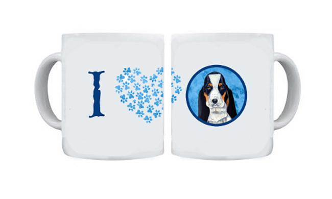 Basset Hound  Dishwasher Safe Microwavable Ceramic Coffee Mug 15 ounce by Caroline's Treasures
