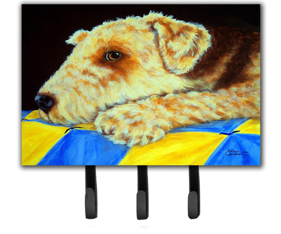 Buy this Airedale Terrier Momma's Quilt Leash or Key Holder AMB1174TH68