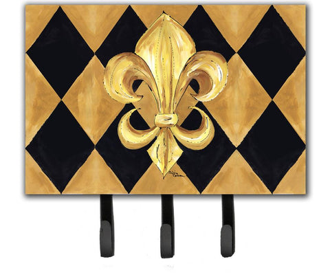 Buy this Black and Gold Fleur de lis New Orleans Leash or Key Holder