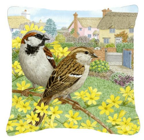 Buy this House Sparrows by Sarah Adams Canvas Decorative Pillow ASAD0677PW1414
