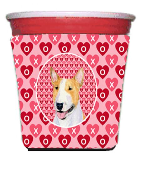 Buy this Bull Terrier  Red Solo Cup Beverage Insulator Hugger