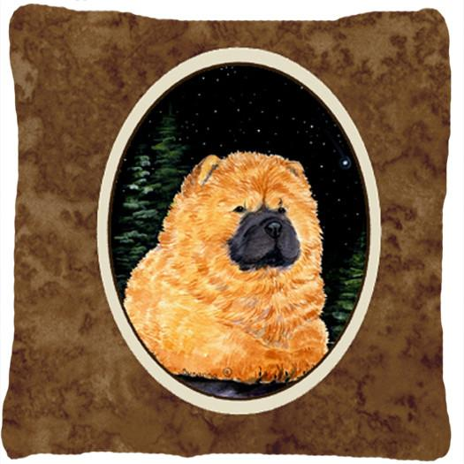 Starry Night Chow Chow Decorative   Canvas Fabric Pillow by Caroline's Treasures