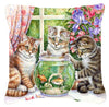 White Tabby by Debbie Cook Canvas Decorative Pillow CDCO325APW1414 - the-store.com