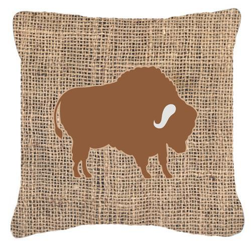 Buy this Buffalo Burlap and Brown   Canvas Fabric Decorative Pillow BB1127