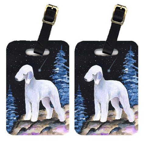 Buy this Starry Night Bedlington Terrier Luggage Tags Pair of 2