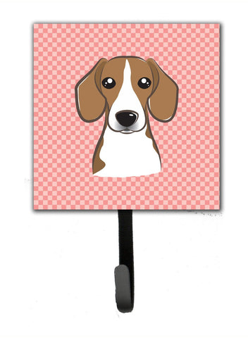 Buy this Checkerboard Pink Beagle Leash or Key Holder BB1239SH4