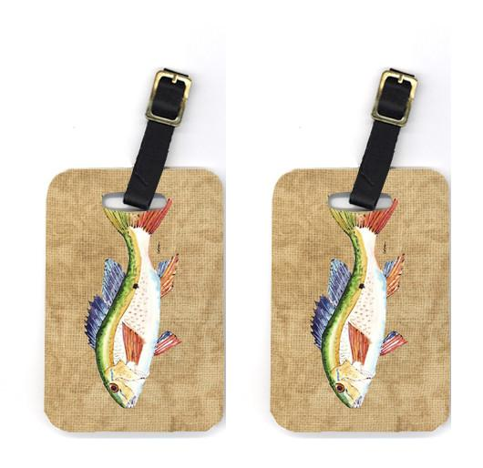 Pair of Rainbow Trout Luggage Tags by Caroline's Treasures
