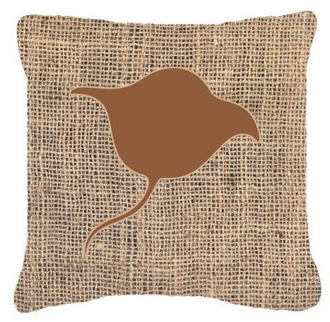 Buy this Stingray Burlap and Brown   Canvas Fabric Decorative Pillow BB1094