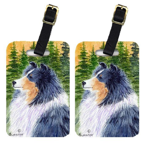 Buy this Pair of 2 Sheltie Luggage Tags