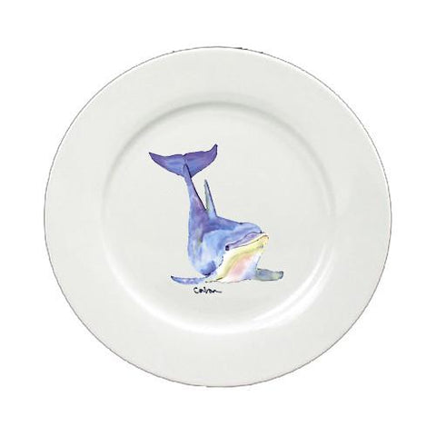Buy this Dolphin Round Ceramic White Dinner Plate 8632-DPW-11