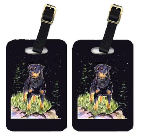 Buy this Starry Night Rottweiler Luggage Tags Pair of 2