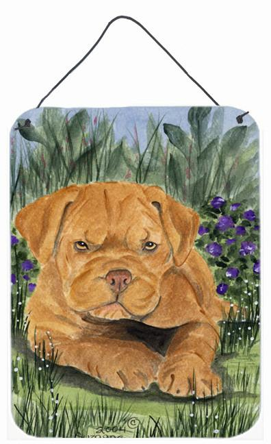 Dogue de Bordeaux Aluminium Metal Wall or Door Hanging Prints by Caroline's Treasures