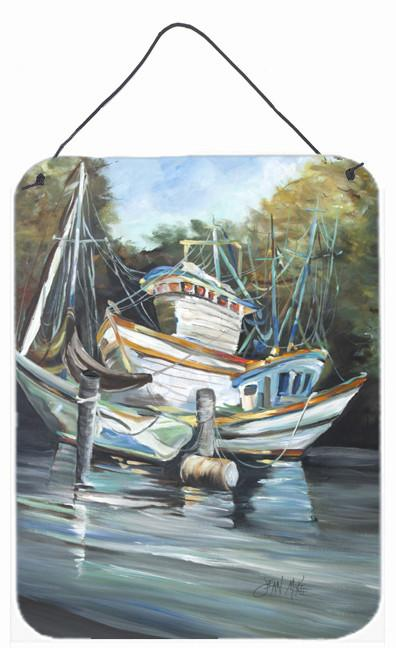 Shrimpers Cove and Shrimp Boats Wall or Door Hanging Prints JMK1152DS1216 by Caroline's Treasures