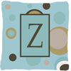 Monogram - Initial Z Blue Dots Decorative   Canvas Fabric Pillow CJ1013 - the-store.com