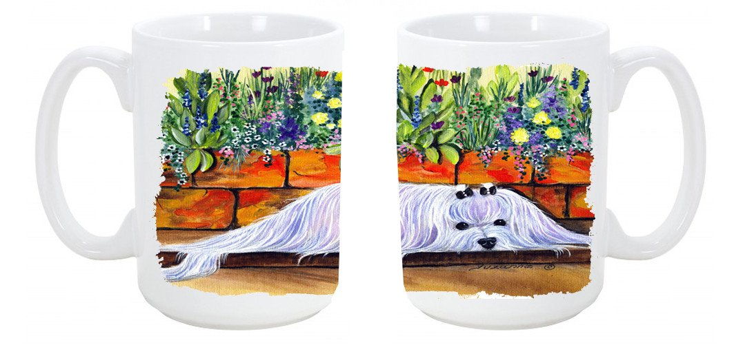 Buy this Maltese Dishwasher Safe Microwavable Ceramic Coffee Mug 15 ounce SS8248CM15