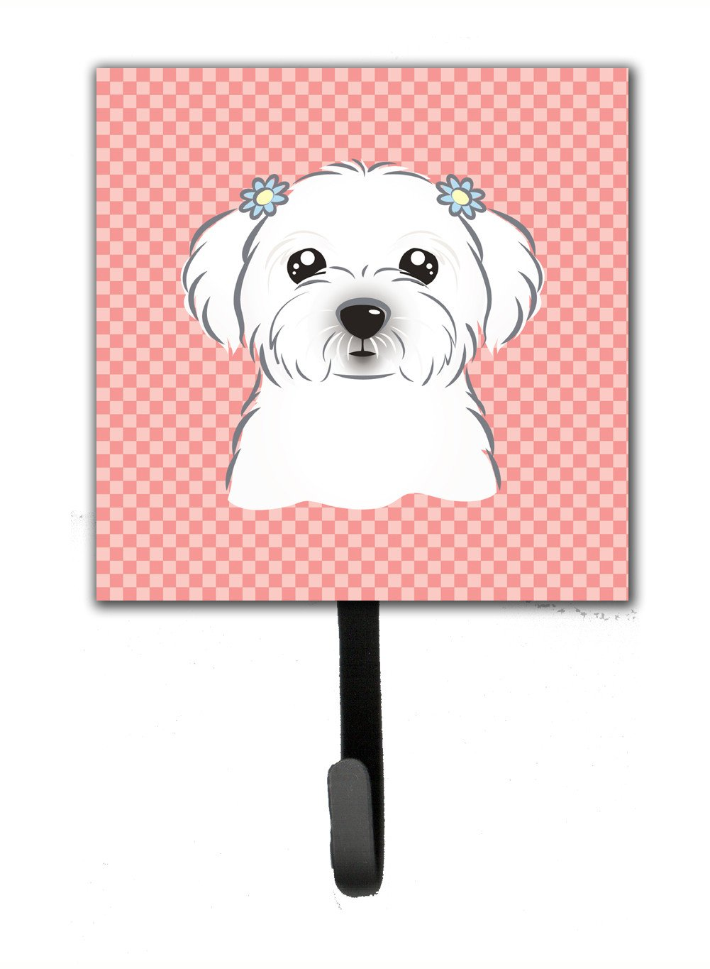 Checkerboard Pink Maltese Leash or Key Holder BB1208SH4 by Caroline's Treasures