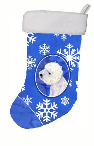 Buy this Westie Winter Snowflakes Snowflakes Holiday Christmas Christmas Stocking LH9270