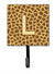 Letter L Initial Monogram - Giraffe Leash Holder or Key Hook by Caroline's Treasures
