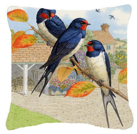 Buy this Swallows by Sarah Adams Canvas Decorative Pillow ASAD0694PW1414