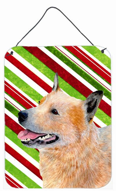 Buy this Australian Cattle Dog Candy Cane Holiday Christmas Wall or Door Hanging Prints