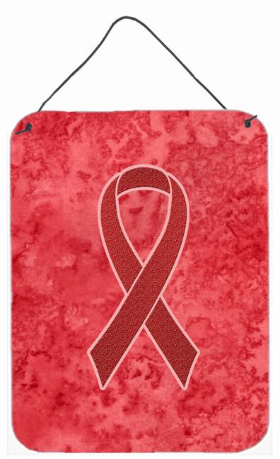 Red Ribbon for Aids Awareness Wall or Door Hanging Prints AN1213DS1216 by Caroline's Treasures