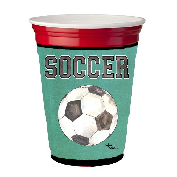 Buy this Soccer Red Solo Cup Beverage Insulator Hugger