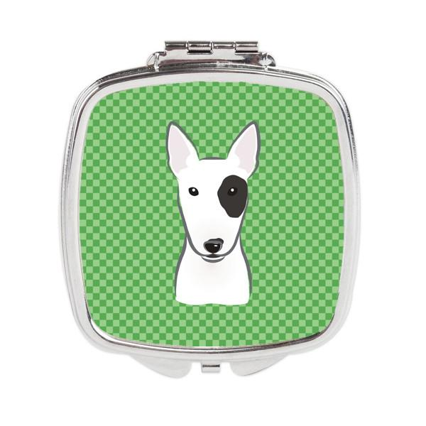 Buy this Green Checkered Bull Terrier Compact Mirror BB1132SCM