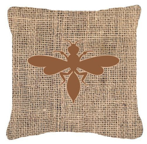 Buy this Wasp Burlap and Brown   Canvas Fabric Decorative Pillow BB1054