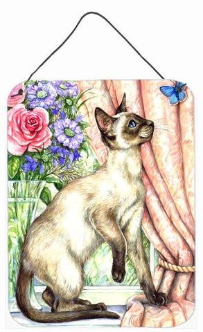 Buy this Siamese cat with Butterfly Wall or Door Hanging Prints CDCO0036DS1216
