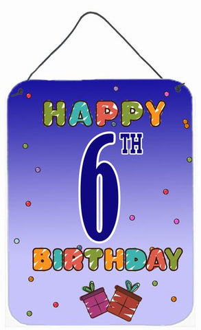 Buy this Happy 6th Birthday Wall or Door Hanging Prints CJ1097DS1216
