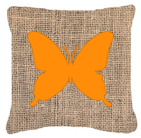 Buy this Butterfly Burlap and Orange   Canvas Fabric Decorative Pillow BB1046