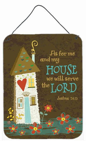 Buy this As For Me And My House Wall or Door Hanging Prints VHA3005DS1216