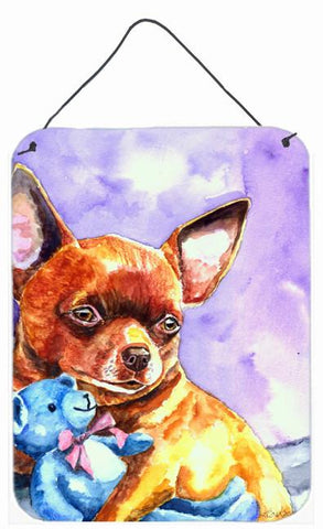 Buy this Chihuahua with Teddy Bear Wall or Door Hanging Prints 7340DS1216