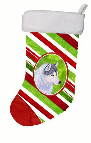 Buy this Siberian Husky Winter Snowflakes Christmas Stocking SS4533