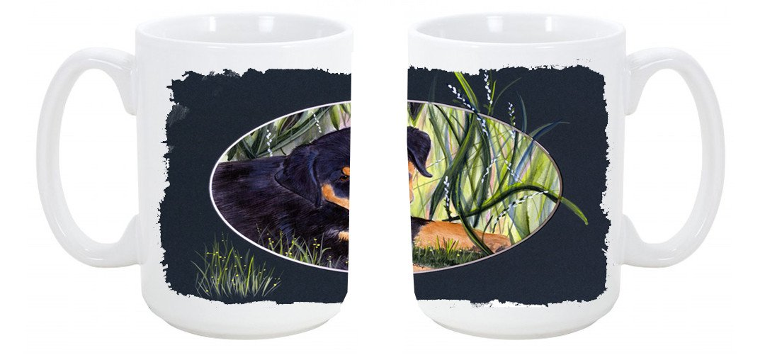 Buy this Rottweiler Dishwasher Safe Microwavable Ceramic Coffee Mug 15 ounce SS8053CM15