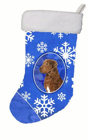 Buy this Chesapeake Bay Retriever Winter Snowflakes Christmas Stocking SS4669