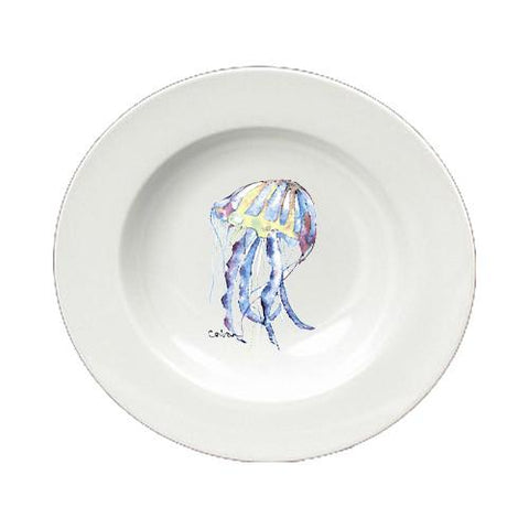 Buy this Jellyfish Round Ceramic White Soup Bowl 8682-SBW-825