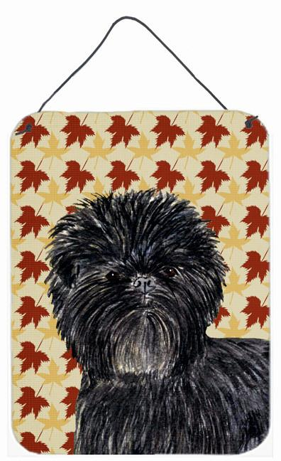 Affenpinscher Fall Leaves Portrait Aluminium Metal Wall or Door Hanging Prints by Caroline's Treasures