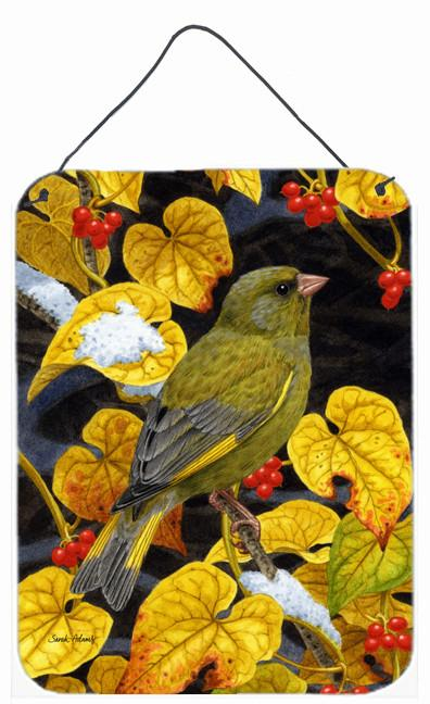 European Greenfinch Wall or Door Hanging Prints ASA2069DS1216 by Caroline's Treasures