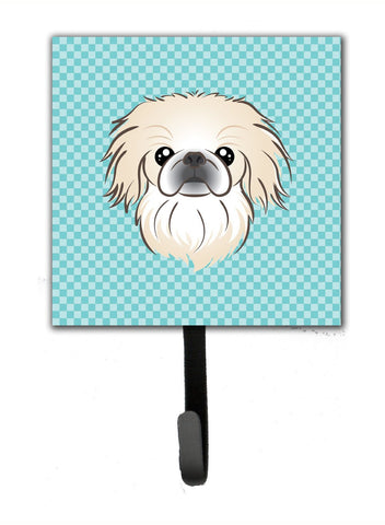 Buy this Checkerboard Blue Pekingese Leash or Key Holder BB1159SH4